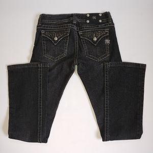 Miss Me #JP5023 Dark Grey Boot Cut Jean Size 28